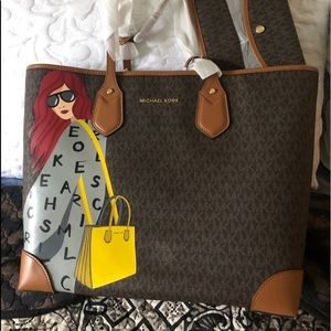 Michael Kors Eva tote and pouch